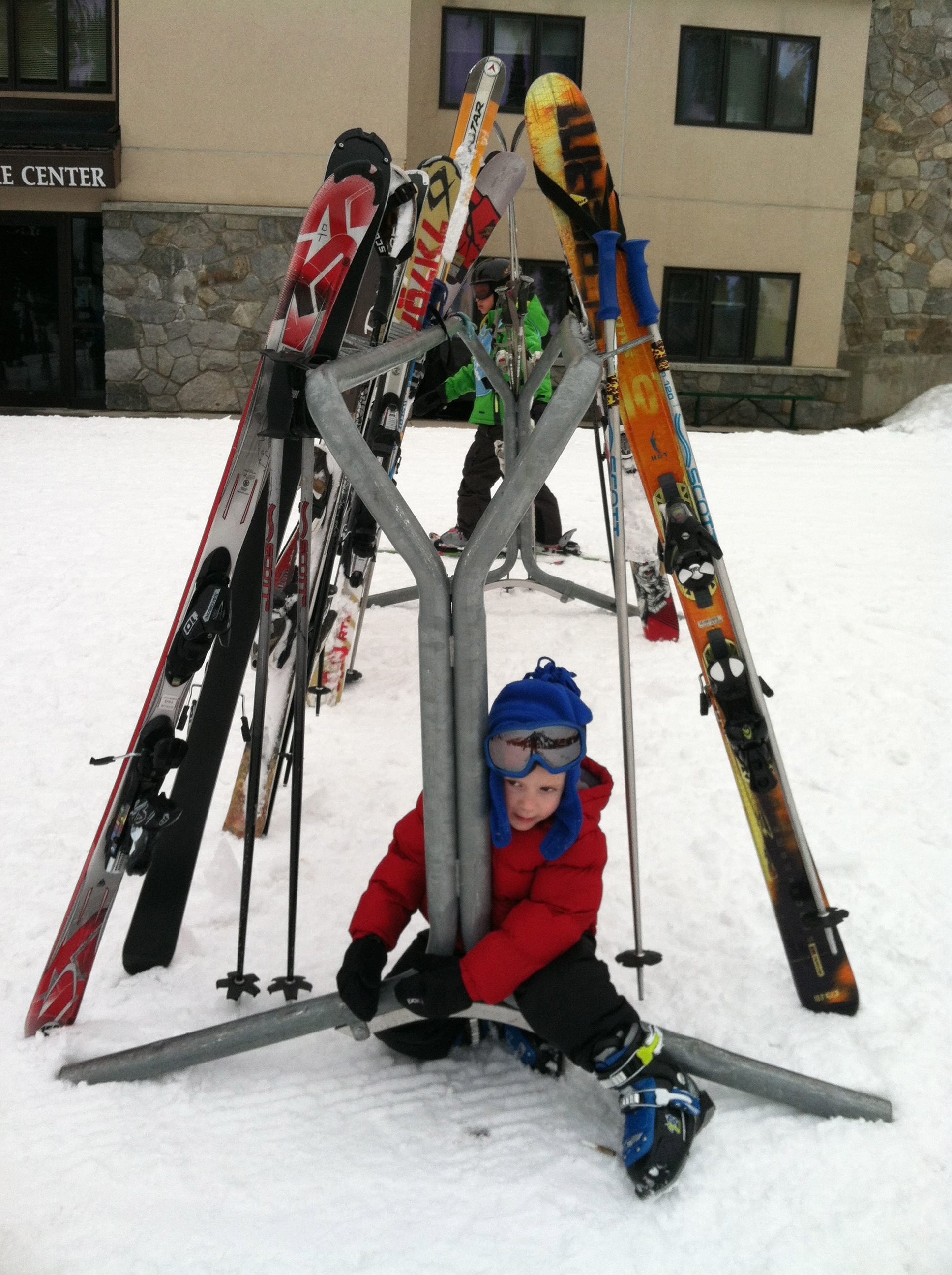 how to teach your child to ski